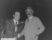 Ο Πρόεδρος του Σ.Φ.Α.Α (Χρ. Ρωμιός) με τον Πρόεδρο του Αιολικού (Ν. Γιακαλής)